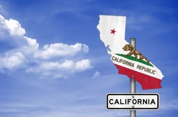 California state and flag